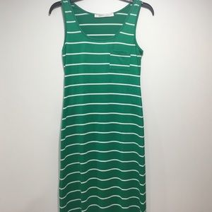 Susana Monaco  Annette Green Maxi Dress Size XS